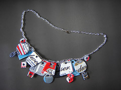 """Bing Necklace 2"" made of Recycled Aluminum Cans ~ 1 of 2 photos photo by Urban Woodswalker"