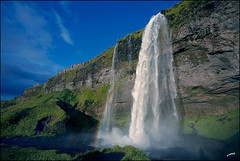 Waterfall in Iceland photo by icerock