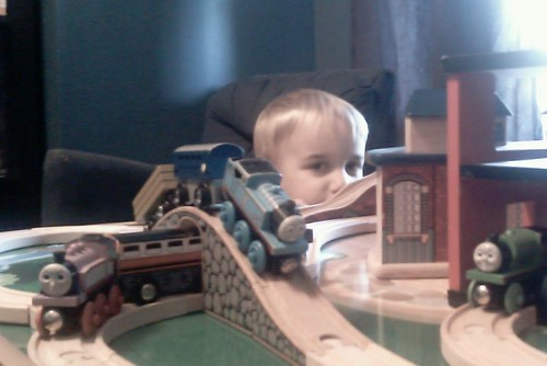 Wordless Wednesday: Train Table Fun