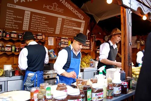 Manchester Christmas market - pancake stall 3