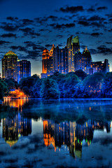 Atlanta's Midtown at the Blue Hour, HDR portrait photo by David Scruggs
