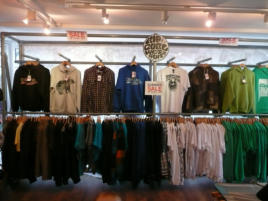 Kee Klamp Clothing Racks in UK Surf Shop