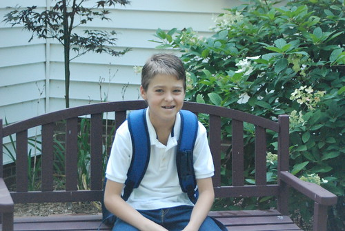Conner First Day of 5th Grade - 1