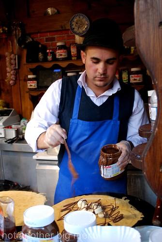 Manchester Christmas market - pancake stall