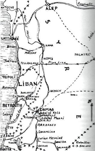 Syrie 1941 - Carte