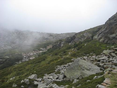 rientro con la nebbia in arrivo