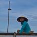Woman in floating market