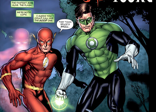 The Flash speed effect in Green Lantern 43