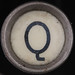 typewriter key letter Q