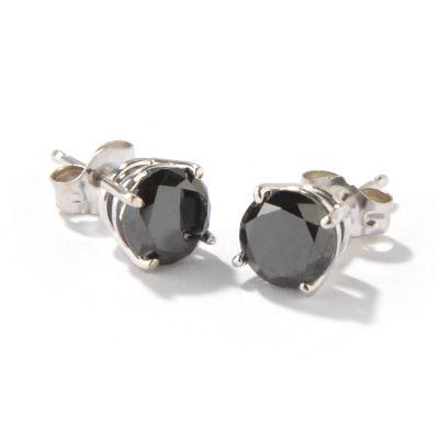 Black Diamond Earrings for Men. Men's Black Diamond Stud