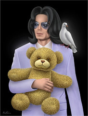Michael Jackson - The Childhood He Has Never Known photo by Ben Heine