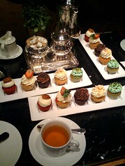 Ritz-Carlton cupcake tea photo by Rachel from Cupcakes Take the Cake