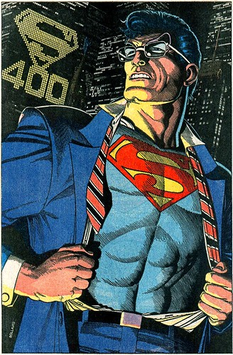 Superman 400 pinup by Brian Bolland