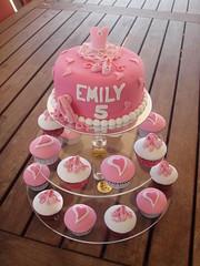Mossy's Masterpiece - Emily's ballet/Ballerina cake & cupcakes photo by Mossy's Masterpiece cake/cupcake designs