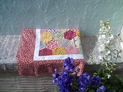 Hex top completed photo by Claudia Shearer Quilts