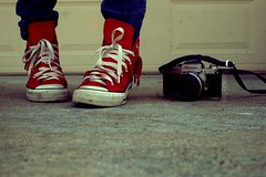 Red Bandana Hi-Tops photo by Sarah Ching