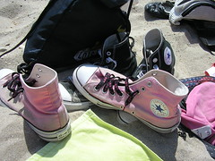 Chucks in the beach! photo by Just Smile!♥