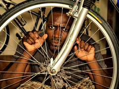 Imprisoned by a Bicycle Wheel? photo by JeahFree