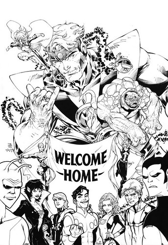 Jim Lee and Wildstorm Legion drawing for Paul Levitz