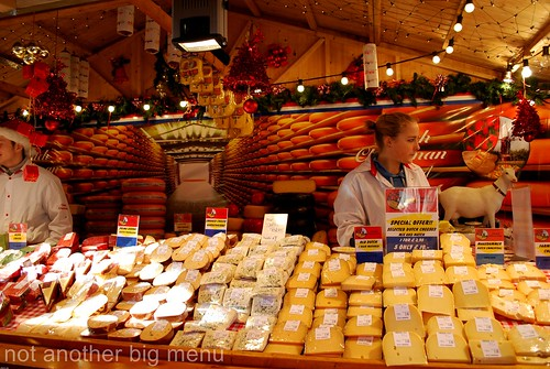 Manchester Christmas market - cheese stall 2