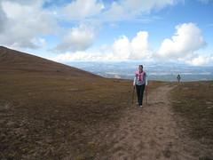 Sara takes the ridge