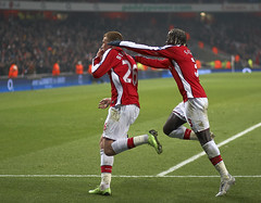 Bendtner and Sagna Celebrate photo by shields_t