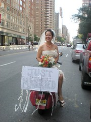 Vespa bride on the UES photo by mulaohu