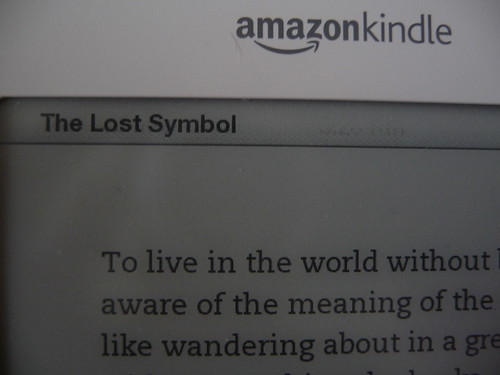 The Lost Symbol on the Kindle