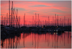 Sunset on the port photo by NathalieSt