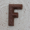 chocolate letter F