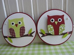 Cute Red Green Owl Embellishments photo by vsroses.com