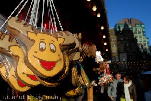 Manchester Christmas market - reindeer cookie