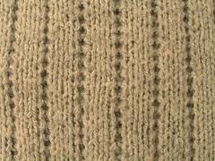 Detalle del jersey de canalé