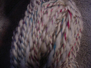 Closeup of Silk/Wool Yarn
