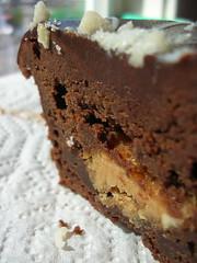 ganache cupcake with peanut butter