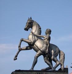 Horse Rider Statue,Anna Flyover,Chennai