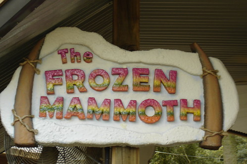 Frozen Mammoth snow cone stand
