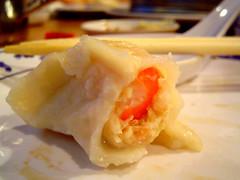 seafood dumpling innards