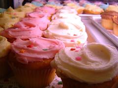 columns of cupcakes