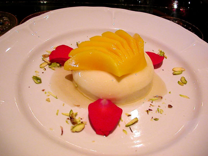 mango rose pannacotta