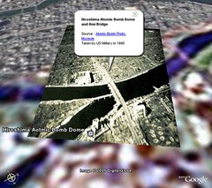 Hiroshima Atomic Bomb - Devastated Land - Google Earth Overlay