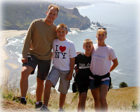 Family Photo at Cascade Head