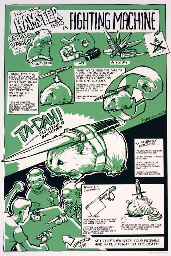 fighting hamster