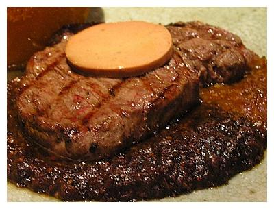 富貴陶園_鵝肝醬阪神牛排的主菜