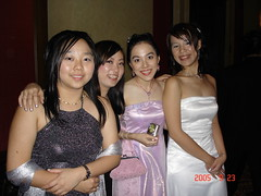Monash Ball 2005 Flame and Frost - Shing Ying, Kerllie, Wan Feng and Me