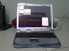 Transparent Screen (BenQ Joybook / Ubuntu Linux)