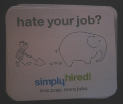 Simply Stickers: hate your job (elephant, crap)