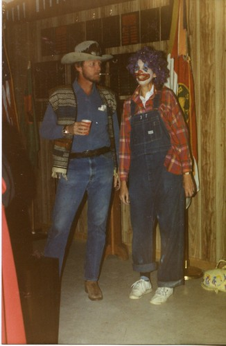 my dad was a cowboy and my mom was a clown