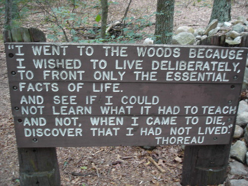 Walden Pond sign