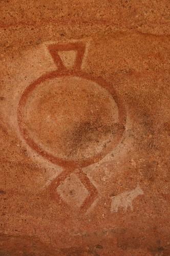 Cerro Colorado, pictografía